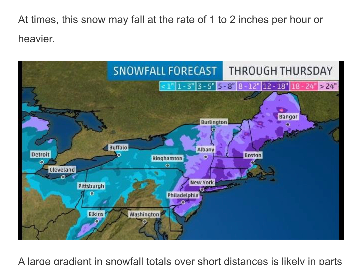 Snow, wind, snow, and wind | then wind, snow, snow, wind, and snow | that's a nor'easter
